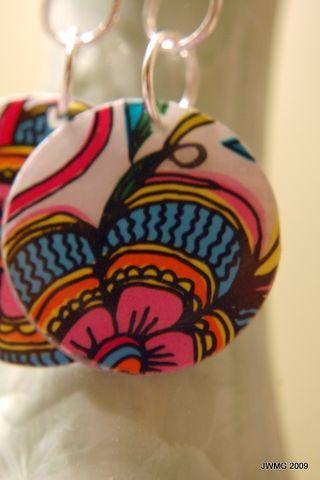 Round earrings 007