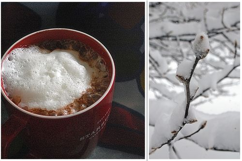 Hot choclate and snow