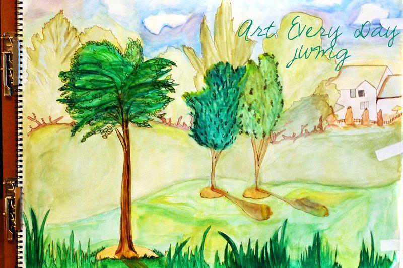 Watercolorlandscape school