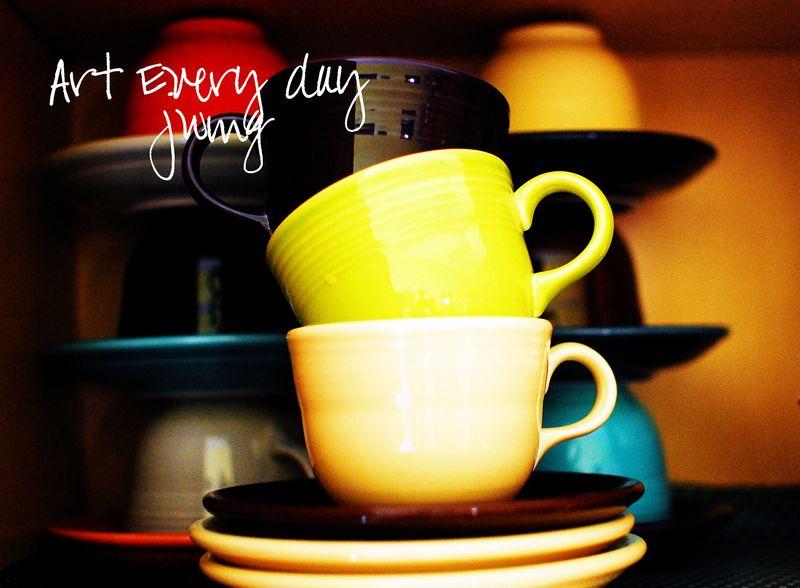 Fiesta teacups