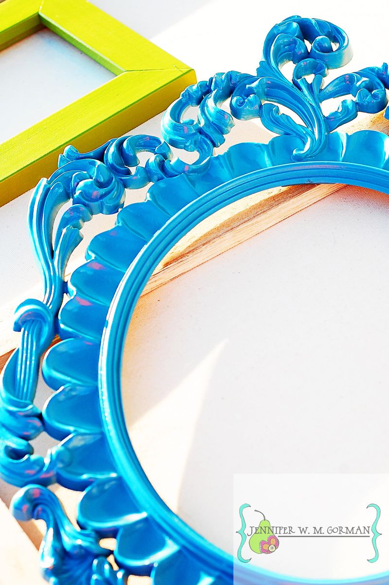 Turquoise frame