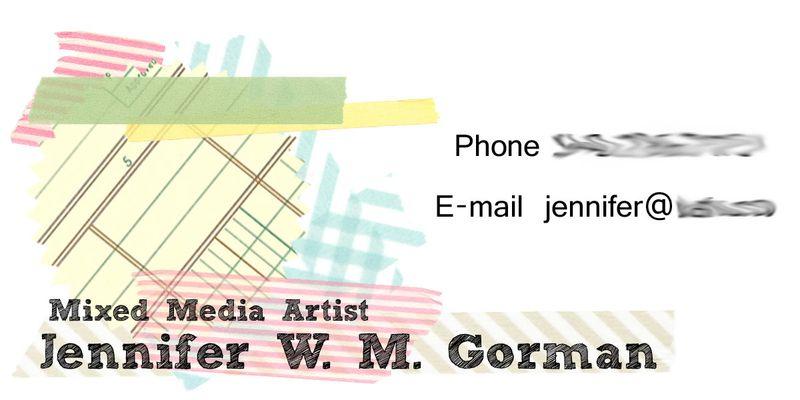 Blurred business card idea