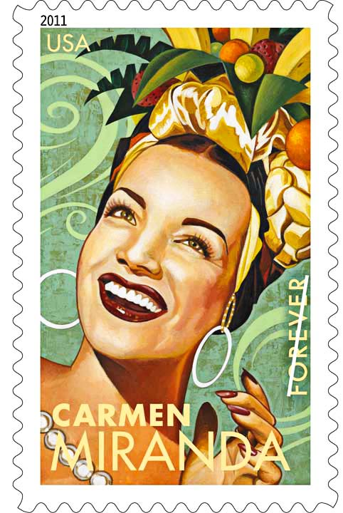 Carmen Miranda stamp copy