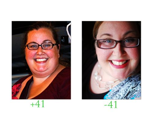 41pounds lost face