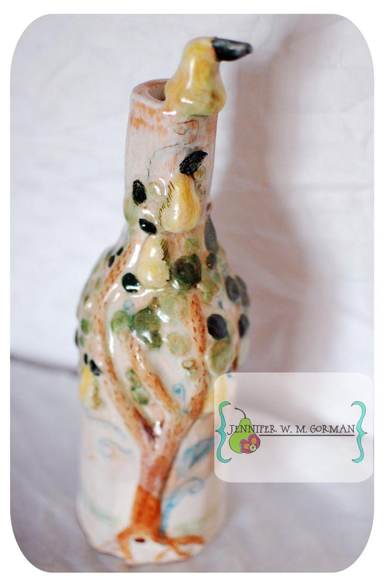 Pear ceramic bottle 1