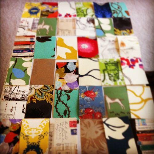 Anthropologie wallpaper sample organization attempt