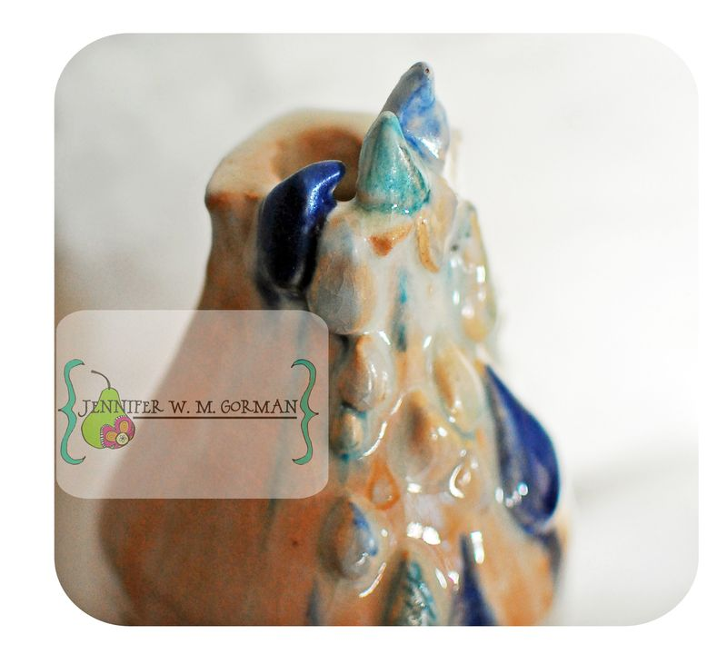 Rain water ceramic bottle 2