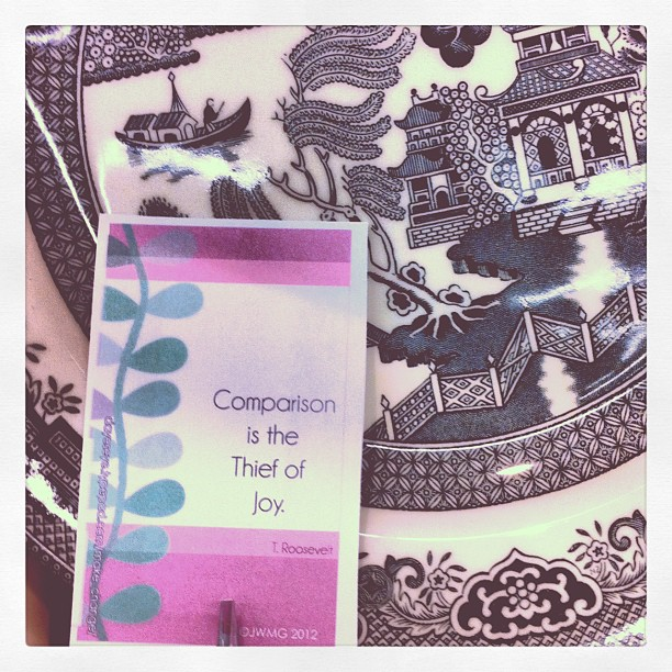 Comparison is the thief of joy card