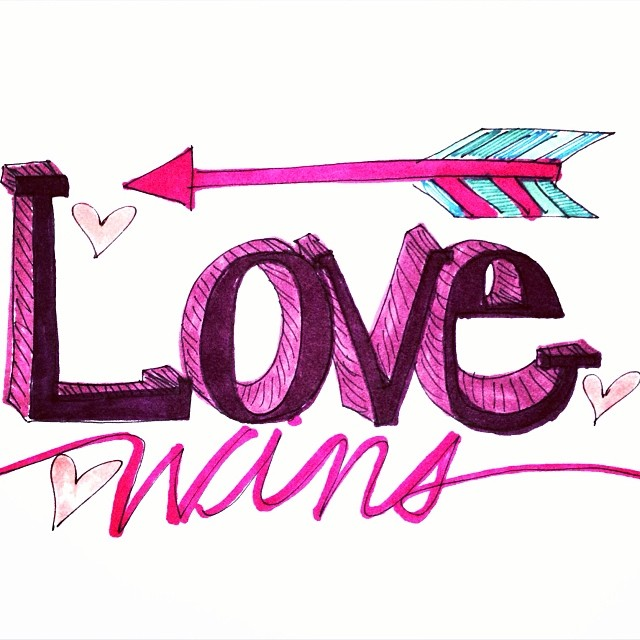 Love wins arrow